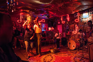 people dancing at jazz club