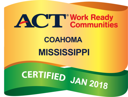 ACT Work Ready Communities badge for Coahoma County, MS