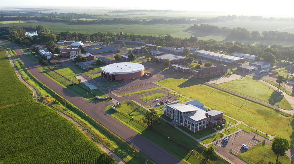 Aerial view of Coahoma Community College